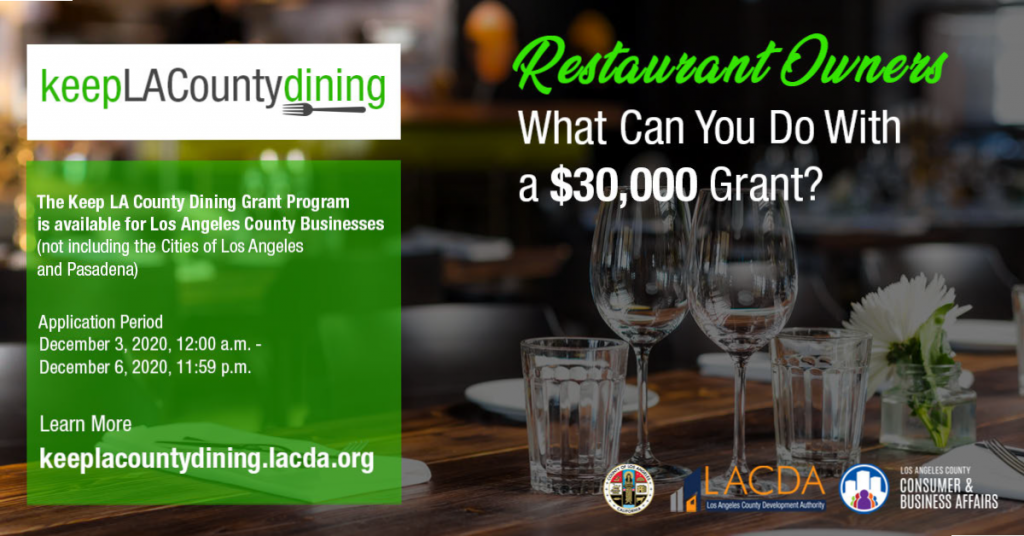 Keep LA County Dining promo